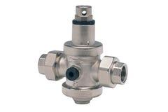 Metall- oder PVCplastikwasserleitungspipe-verbindung Ventil, plombierend Lizenzfreies Stockfoto