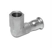 Metall- oder PVCplastikwasserleitungspipe-verbindung Ventil, plombierend stockfoto