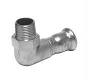 Metall- oder PVCplastikwasserleitungspipe-verbindung Ventil, plombierend Lizenzfreie Stockfotos