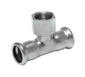 Metall- oder PVCplastikwasserleitungspipe-verbindung Ventil, plombierend stockfotos
