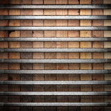 Metall på wood bakgrund Arkivbild