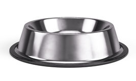 Metall Pet bowl isolated on the white background Stock Photography