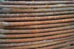 metall pipes rostigt Royaltyfri Bild