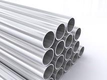 metall pipes tubular stock illustrationer