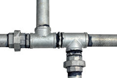 metall pipes vattenwhite Fotografering för Bildbyråer