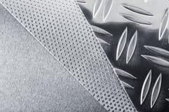 Metall plattor Arkivfoto