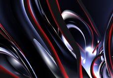 Metall preto na luz vermelha Ilustração Stock