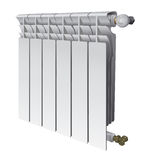 Metall radiator for panel heating of house Royalty Free Stock Photo