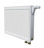 Metall radiator for panel heating of house. Illustration Royalty Free Stock Photo