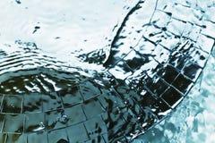 metall ripples texturvatten Royaltyfria Foton