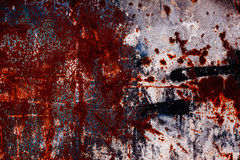 metall rostade textur Grungy texturerad bakgrund - abstrakt rost Fotografering för Bildbyråer