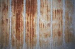 metall rostade väggen Arkivbild