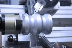 Metall som bearbetar teknologi Fotografering för Bildbyråer