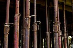Metall som förstärker strukturen Arkivfoto