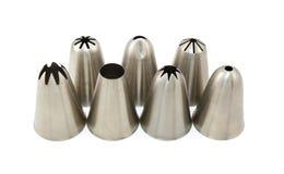 Metall som sju leda i rör dysor för att glasera Royaltyfria Bilder