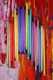 metall spikar målat arkivfoton
