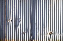 Metall täfelt Wand lizenzfreies stockbild