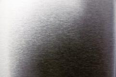 Metall texturerad bakgrund med små horisontalband Royaltyfri Fotografi