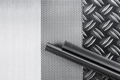 Metall tubki i talerze Obraz Stock