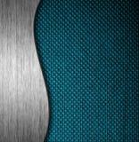 Metall- und des Gewebesmaterieller Schablonenhintergrund Lizenzfreie Stockfotos