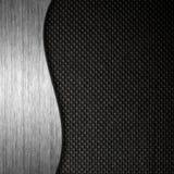 Metall- und des Gewebesmaterieller Schablonenhintergrund Lizenzfreies Stockbild