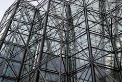 Metall- und Glasaufbau Lizenzfreie Stockfotos