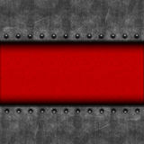 Metall und rotes Leder Stockbilder