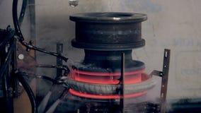 Metall uppvärmning med modern högteknologisk teknologi arkivfilmer