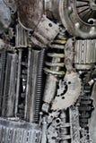 Metall utrustar bakgrund arkivbild