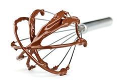 Metall wischen mit Schokolade stockbild