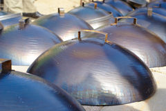 Metallabdeckungen Lizenzfreies Stockbild