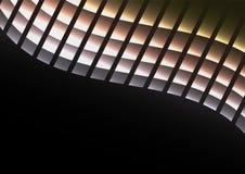 Metallabstrakter Pixel-Kurvenhintergrund Stockbilder