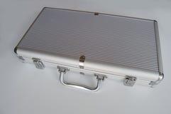 Metallaktenkoffer stockbilder
