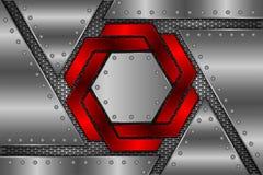 Metallarket är på ingreppet som bakgrund vektor illustrationer