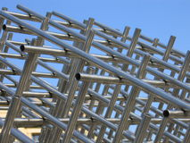 Metallaufbau lizenzfreie stockbilder
