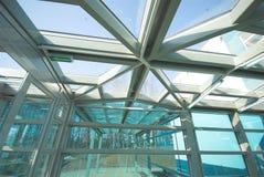 Metallaufbau und -glas Lizenzfreie Stockbilder