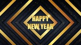 Metallbakgrund för lyckligt nytt år med guld- dammsamkopieringstextur vektor illustrationer
