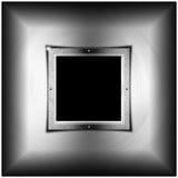 Metallbakgrund med den fyrkantiga skärmen Royaltyfria Foton