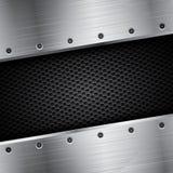 Metallbakgrund - vektorillustration Royaltyfri Foto