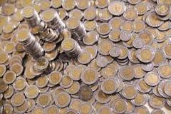 Metallbargeldhintergrund Lizenzfreies Stockfoto