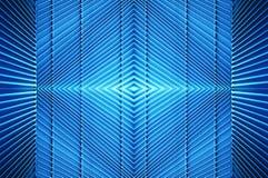 Metallbau im Blaulicht Stockfoto