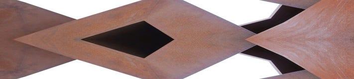 Metallbau-Spiegeleffekt der Fahne rostiger lizenzfreie stockfotos