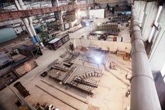 Metallbauten in der Anlage Stockfotos