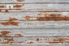 Metallbeschaffenheit mit gewölbtem und Rost lizenzfreies stockfoto