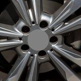 Metallbeslag av ett hjul Arkivbild
