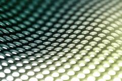 Metallblathintergrund im Grün. Stockbilder