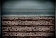 Metallblockwand Stockfotografie