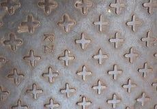 Metallboden-Beschaffenheitshintergrund, Muster Stockfoto
