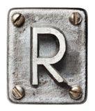 Metallbokstav royaltyfria foton