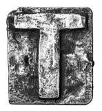 Metallbokstav royaltyfri bild